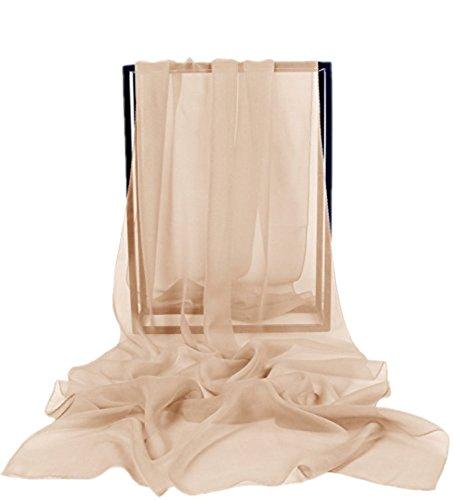 Dresstells Chiffon Schal Stola für Abendkleider in verschiedenen Farben Champagne 200cmX75cm