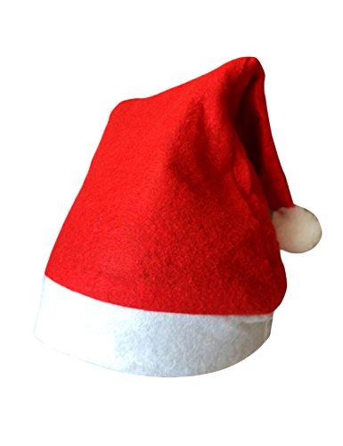 Bestgift cappello da Babbo Natale cappellini per feste per bambini, Christmas Hat1 10*12 Inch, 10*12 Inch