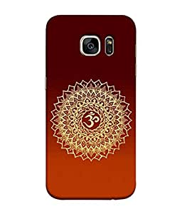 PrintVisa Designer Back Case Cover for Samsung Galaxy S7 :: Samsung Galaxy S7 Duos :: Samsung Galaxy S7 G930F G930 G930Fd (Power Shape Peace Abstract Religion Ohm Illustration)
