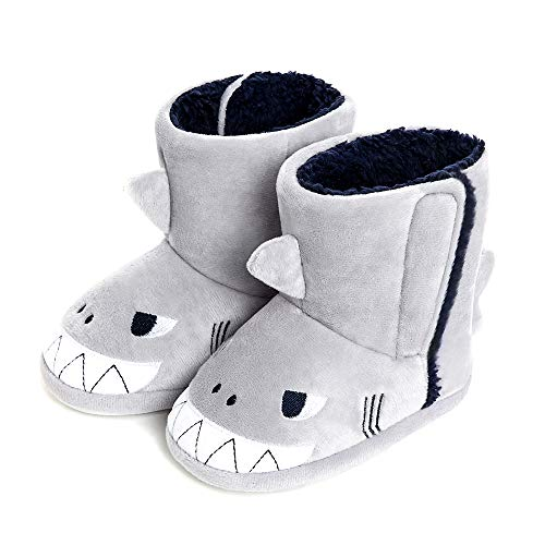 Baby Girl Boy House Boot Toddler Plush Cartoon Velcro Indoor Outdoor Slippers