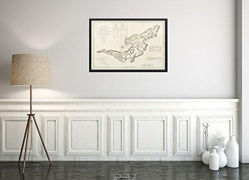 New York Map Company () 1776Karte St. Vincent und die Grenadines|Grenadines|bequia Plan der Insel Bequia Laid Do|Historic Antik Vintage Reprint|Ready zum Rahmen