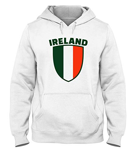 Sudadera Capucha Hombre Blanca DEC0181 Irlanda