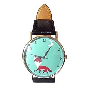 Armbanduhr: What the fox? mit kleinem Fuchs