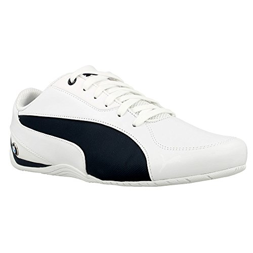 Puma BMW Ms Drift Cat 5, Baskets Basses Homme Blanc-Bleu marine