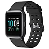 2019 Smartwatch, GRDE Orologi Intelligenti Uomo Donna Bluetooth 5.0 IP68 Impermeabile Cardiofrequenzimetro da Polso Contapassi Touch Screen Fitness Tracker per Android iOS Samsung iPhone Huawei