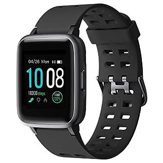 GRDE Smartwatch, Bluetooth V5.0 Reloj Inteligente Deportivo Impermeable 5ATM con Pantalla Completa Táctil Monitor de Ritmo Cardíaco y Sueño Notificación de Mensaje Reloj Deportivo (Para Deportes)