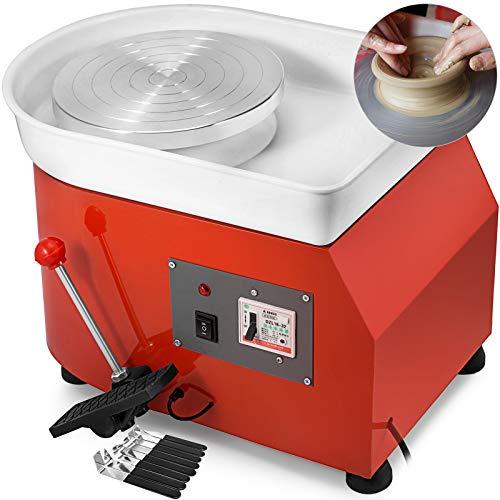 BananaB 350W Electric Pottery Wheel Ceramic Machine 25cm Keramik Radmaschine 220V Ceramic Wheel Machine Keramikformmaschine Radmaschine DIY mit verstellbaren Füßen