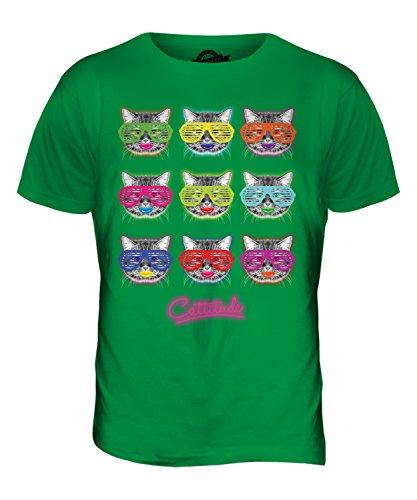 CandyMix Cattitude Katze Herren T Shirt Grün