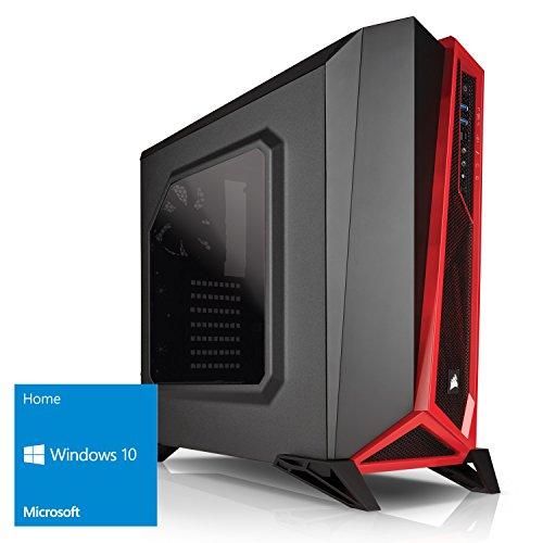 Kiebel Red Giant [184197] Gamer-PC - Ryzen 7 1800X (8x3.6GHz) | 16GB DDR4-2666 HyperX | nVidia GTX 1080 8G GDDR5X | 250GB M.2 SSD + 1TB | ASUS X370-Pro | Sound | Gaming-LAN | Win10 | Gaming Computer
