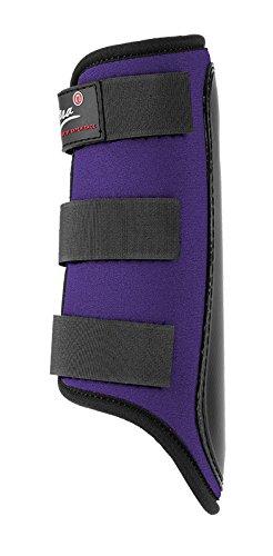 Gera 1047 Equitex, Schutzgamaschen, hinten, Große III/L, lila mit schwarzem Besatz, paarweise