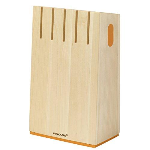 Fiskars Design-Messerblock für 5 Messer, Breite: 14,7 cm, Höhe: 24 cm, Birkenholz,  Functional Form, 1014228