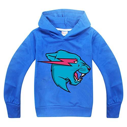 Youtuber Gamer Esprots T-Shirt mit Aufdruck Berühmte Youtuber für Jungen Gr. 150 cm (9-10 Jahre), Blue-Long (Super Gamer Girl Kostüm)