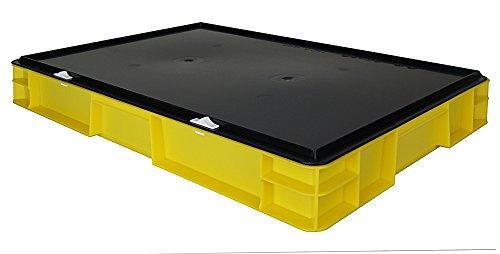 Aufbewahrungsbox - Transport-Stapelbox mit Verschlussdeckel, 600x400x86 mm, aus PP, 14,5 Liter...