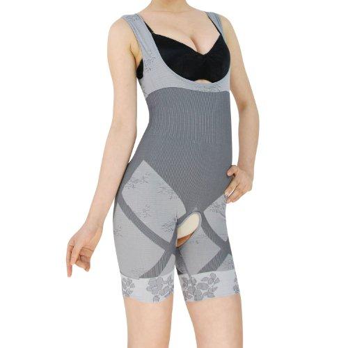 Anti-Cellulite, Fettverbrennung , Schlankheits-, Frauen-leicht bis leicht nach unten Leibchen, Shapewear, Gestaltung Body Grau