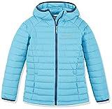 Columbia Wasserabweisende Jacke für Mädchen, Powder Lite Hooded Insulated Jacket, Polyester, blau (atoll), Gr. M, EG0009