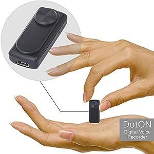 grabadoras ocultas: Mini grabadora de voz - 90 horas de capacidad con memoria de 8GB - 20 horas de d...