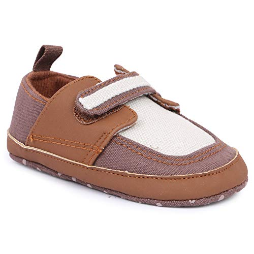 INSTABUYZ Unisex Baby Shoes & Sandals for Boys & Girls, Infant Shoes/Infant Sandals for Newborn, First Walking Baby Shoe Brown