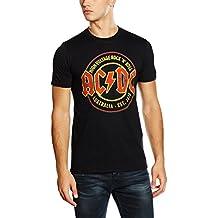 AC/DC Voltage–Camiseta de, hombre, color negro, tamaño large