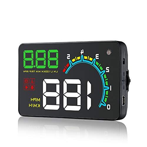 Auto HUD OBD2 Tachimetro digitale Head-Up Display Velocità veicolo MPH KM/h, RPM motore, OverSpeed   Warning, misurazione del chilometraggio