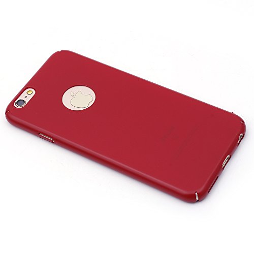 "iProtect® Apple iPhone 6 (4,7"") 6s Hülle Silikon Soft Case weiß Matt rot"