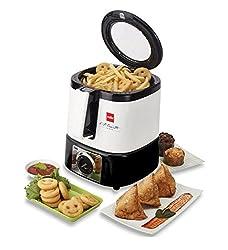 Cello Air-Chef-100 1250-Watt Deep Fryer (Black and White)