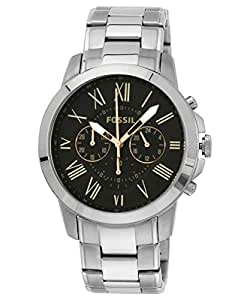 Fossil Grant Chronograph Black Dial Men's Watch - FS4994I
