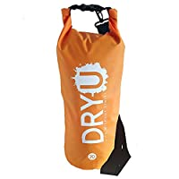 DRYU - Large Premium Waterproof Dry Bag - Extreme Protection - 20 Litre - Orange. Sailing, Canoeing Camping, Festivals, Kayaking, Boating, Water sports, SUP bag. Light, strong portable, wet and dry bag