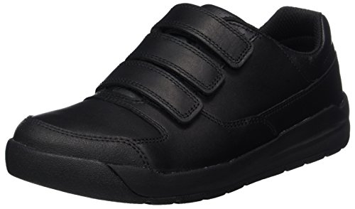 Clarks Jungen Monte Lite Bl Sneaker Schwarz (Black Leather)