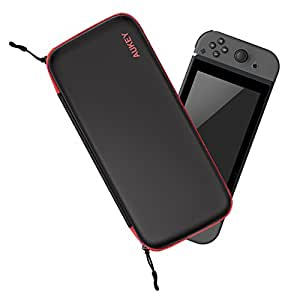AUKEY Custodia per Nintendo Switch Impermeabile Custodia Rigida con 12 Slot per Carte di Gioco e Tasca Interna Accettata per Console di Commutazione, Cavi, Custodia per Biglietti da Gioco