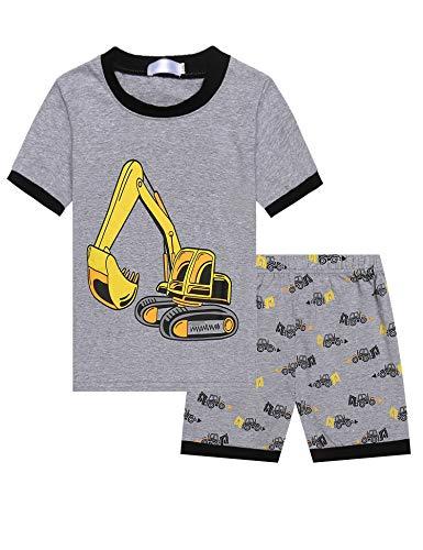 Bricnat Kinder Jungen Baumwoll T-Shirt Karikatur Fahrzeug Muster Beiläufiges Kurzarm Tops