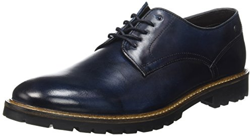 Base LondonBarrage - Scarpe stringate Uomo , Blu (Bleu (Washed Blue)), 42