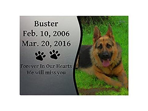 PETS DOG CAT RABBIT MEMORIAL PLAQUE PHOTO 3 Metal Aluminium Sign Plaque Custom Personalised by MegSub (5x7
