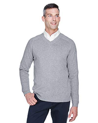 Devon & Jones Herren Pullover mit V-Ausschnitt, Schwarz - Grau - X-Groß - Devon & Jones-pullover Mit V-ausschnitt