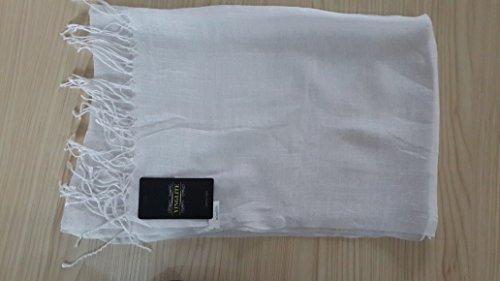 Yinglite couleur élégante viscose /Pashmina Echarpe Châle écharpe Tassels, Echarpe Foulard Grands Mousseline de Mode pour Fille Femme A- Noir