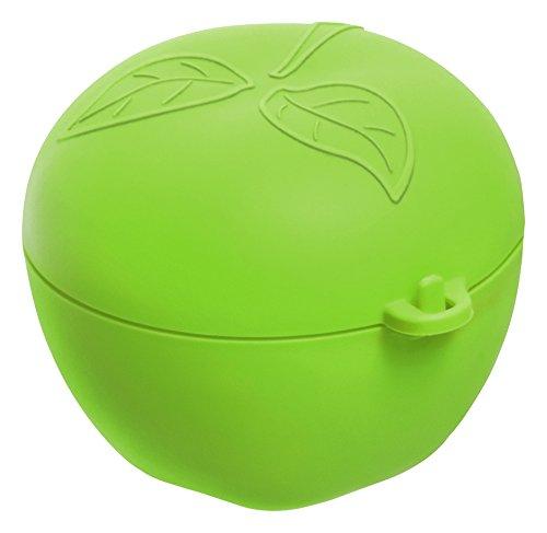 Rotho 1748205518, Apfelbox aus Kunststoff, BPA-Frei, Spülmaschinengeignet, Ideal für Den Transport von Äpfeln, Birnen, Orangen und Mehr Apfeldose, Plastik, Grün, 12, 4 x 11 x 9, 5 cm, 1 Einheiten (Einheit Box)