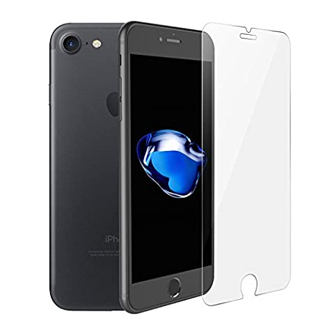 iPhone 7 2.5D von SWISS-QA, Bestes gehärtetes Glas 99% Transparenz, Kratzfestes Glass, Passt mit jeder Hülle, da nur die flachen Stellen des Bildschirms abgedeckt werden - Geld-zurück-Garantie