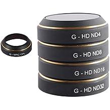 Gazechimp HD Cámara Linse Filtro Objektivfilter ND4 ND8 ND16 ND32 CPL Set para DJI Mavic PRO Partes Drone