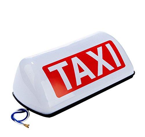 Taxi Licht Cab Schild Dach Topper Magnet Auto Lampe Wasserdicht Weiß 12V (Lampe Auto Dach)