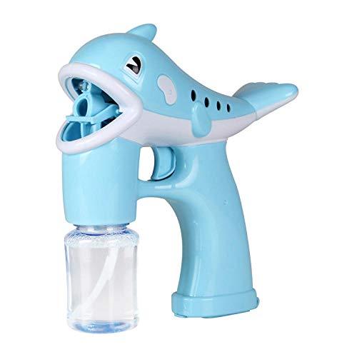 Yvonnezhang Kinderspielzeug Dolphin Bubble Gun Automatische Kinder Cartoon Musik Lichter Weihnachtsfeier Hochzeit Indoor Outdoor-Spielzeug @Light Blue (Halloween-musik-aktivitäten Für Kindergarten)