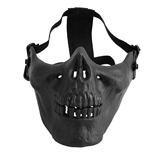 Dioche TPU-Maske Half Face Skull Schutzmaske -