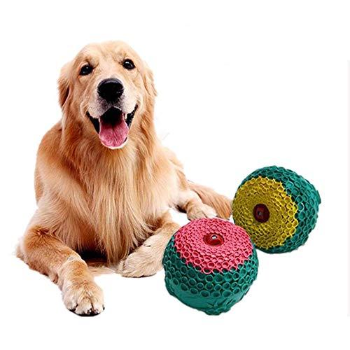 (QHLJX 1pcs Hundespielzeug, Pet Dog Ball Gummi Molar Toy Dog Kauen Spielzeug Hunde Spielen Spielzeug Wasserspeicher Ball, Zufällige Farbe)