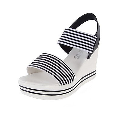 RUGAI-UE Sommer Mode Frauen Sandalen Schuhe Casual PU Komfort Fersen, Rot Pink, Us7.5/EU38/UK5.5/CN 38 Black