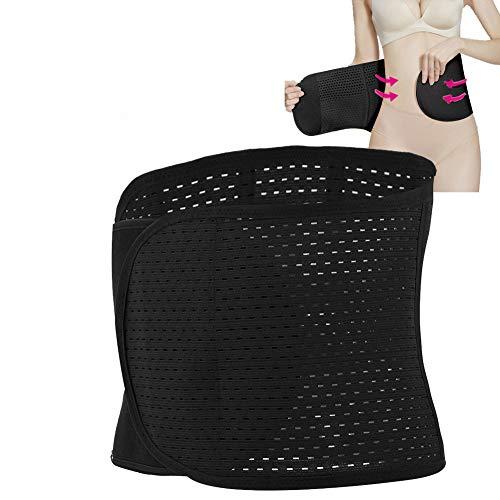 TMISHION Bauchgürtel, postpartales Shapewear Korsett Damen Atmungsaktiv Elastisch Bauchweg Gürtel Bauchband Gurt Nach für den Frauengürtel nach der Erholung der Schwangerschaft (Schwarz)