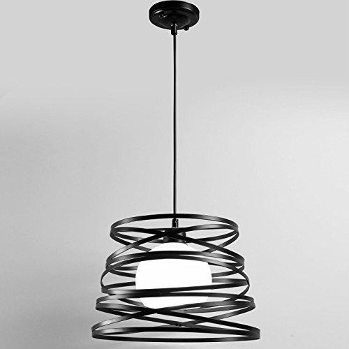 Jahrgang Industriell Metall Zylinder Retro Pendelleuchte 1 Weg E27 40W Dachboden Bar Schatten [Energieklasse A ++] -