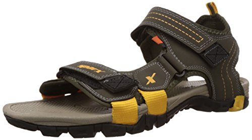 Sparx Men's Olive and Camel Sandals and Floaters - 7 UK (SS0439G)