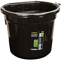 Cubo para agua o comida FlatBack aprox. 20 l, negro