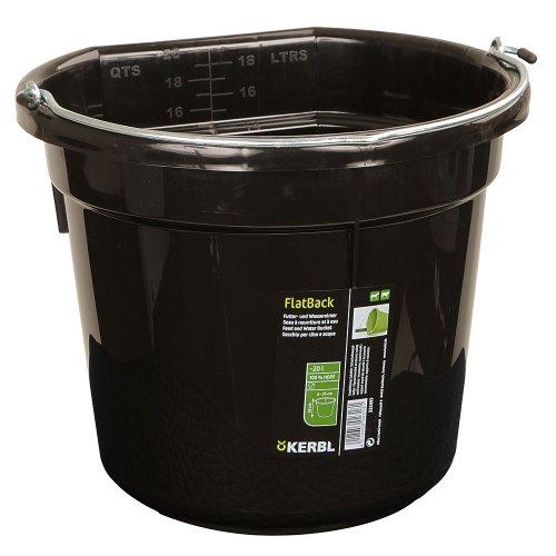 Kerbl Cubo para agua o comida FlatBack aprox. 20 l, negro