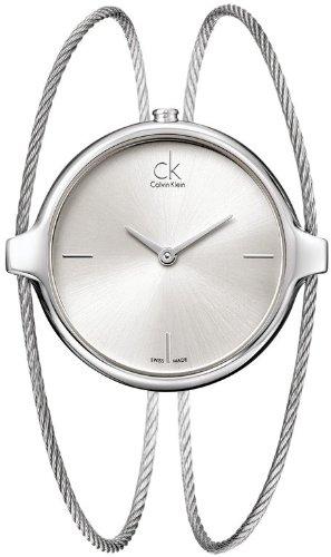 Calvin KleinK2Z2M116 -Reloj de pulsera de cuarzo analógico para mujer, acero inoxidable