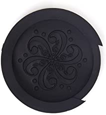 Generic Acoustic Guitar Sound Hole Cover Screeching Halt Rubber Black