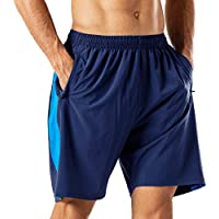 Pantalones cortos de deporte para hombre de secado rápido, pantalones cortos con bolsillo con cremallera